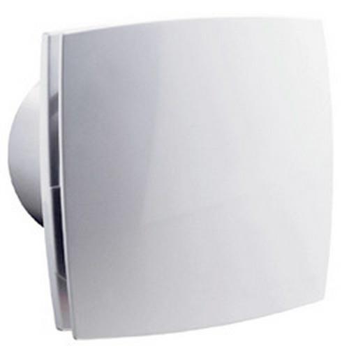 Eleganter Abluft Lüfter für feuchte Räume wie Bad und WC